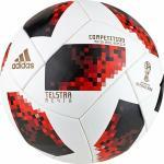 adidas Fußball Cup KO Competition 2018 (Größe: 5, white/solar/red black)