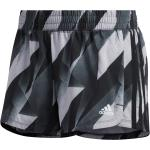 adidas Pacer HTC Short Running Damen Grau Schwarz grau L