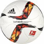 adidas Torfabrik 2015 Matchball (Größe: 5, white/solar red/black/solar orange)