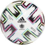 adidas Uniforia Futsal Ball EM 2020 (Größe: FUTS, white/black/signal green/bright cyan)