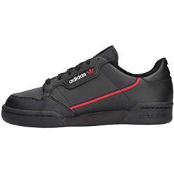 adidas Unisex-Erwachsene Continental 80 J Fitnessschuhe, Schwarz (Core Black/Scarlet/Collegiate Navy 0), 38 2/3 EU