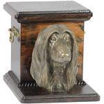 Afghane, Memorial, Urne für Hunde Asche, mit Hund Statue, ArtDog