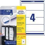 AKTION: 80 AVERY Zweckform Ordneretiketten L6061REV-20 weiß für 7,0 - 8,0 cm Rückenbreite + GRATIS 40 Etiketten