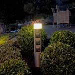 albert LED Pollerleuchte mit Steckdosen, 622202