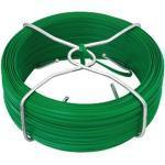 Alberts Bindedraht, grün kunststoffbeschichtet, Drahtstärke Ø0,8 mm, Länge 50 m