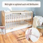 """Alcube Babybett »""""TONI"""" 60x120 cm I 70x140 cm«, mit Matratze und Schublade Juniorbettfunktion in Natur, beige, Mit Matratze"""