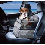 ALL FOR PAWS Hunde-Autositz-Upgrade Deluxe, tragbarer Haustier-Hundesitz für Autos, LKWs und SUVs – verstellbarer Sicherheitsgurt, perfekt für kleine und mittelgroße Haustiere (grau)