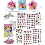 alles-meine.de GmbH 500 TLG. XXL Set: Sticker & Malblock - Disney Princess - Prinzessinnen - 3-D Aufkleber & Normale - mit AusmalBlock - groß - Arielle Belle Rapunzel Schneew..