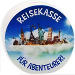 alles-meine.de GmbH große XL Spardose - Reisekasse - für Abenteurer - stabile Sparbüchse - aus Porzellan / Keramik - Sparschwein - Sehenswürdigkeiten - Rundreise - New York /..