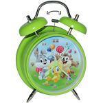 alles-meine.de GmbH Kinderwecker Baby Looney Tunes - für Kinder Metall großer Wecker Analog - Alarm Metallwecker - Bugs Bunny Tweety Taz Domic