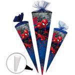 alles-meine.de GmbH Schultüte - Spider-Man / Spiderman - 50 cm - rund - mit Tüllabschluß - Zuckertüte - mit / ohne Kunststoff Spitze - Nestler - Jungen - Ultimate Amazing - A..