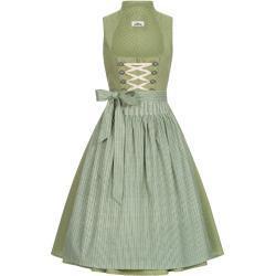 Grüne Almsach Mona Midi Dirndl mit Reißverschluss zum Oktoberfest für Damen