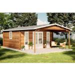 Alpholz - Gartenhaus aus Holz Nyborg-44 ISO , ohne Imprägnierung , ohne Farbbehandlung , Tauchimprägnierung ab Werk:ohne Tauchimprägnierung