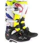 Alpinestars Tech 7 Motocross Stiefel, schwarz-weiss-blau, Größe 51, schwarz-weiss-blau, Größe 51