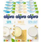 Alpro Sojadrink 1 Liter, verschiedene Sorten, 12er Pack