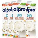 Alpro Soya Drink ungesüßt, ohne Zuckerzusatz, 100 % pflanzlich - 1L - 4x