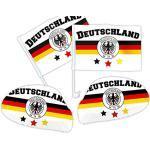 Alsino Deutschland Autofahne Autoflagge Spiegelüberzug 4-teiliges Set DE-03