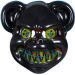 Alsino Maske Halloween LED The Purge Masken Herren Horror Clown Kostüm Party Fasching Karneval (blau)