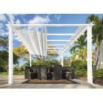 Aluminium Pergola, Pavillon Paragon Outdoor Florida 10x10 mit verstellbarem Sonnensegel 320 x 320 cm weiß