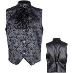 Anthrazitfarbene Stehkragen Vampir-Kostüme für Herren