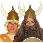 Amakando Mittelalter Helm Wilder Krieger/Gold/Gallier Kopfbedeckung/Perfekt geeignet zu Fasching & Karneval