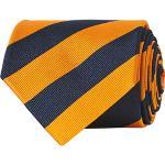 Amanda Christensen Regemental Stripe Classic Tie 8 cm Orange/Navy