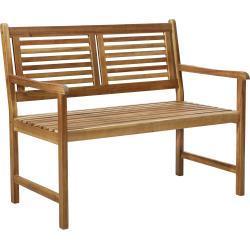 Ambia Garden GARTENBANK Akazie Braun, Holz, vollmassiv, 2-Sitzer, 110x92x68 cm