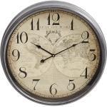 Ambia Home WANDUHR , Braun , Metall, Glas, Papier , Dekoration, Uhren, Wanduhren