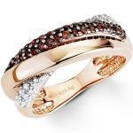 amor amor Ring für Damen, Sterling Silber 925, Zirkonia