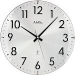 AMS. design 5973 Wanduhr rund hochwertige Funkuhr Küchenuhr Büro Wartezimmer Wanduhr classic Große Zahlen