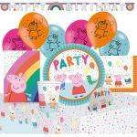 Amscan Kindergeschirr-Set »Partyset Peppa Pig, 56-tlg.«