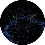 Analoge Wanduhr Milky Way Dome 35 cm