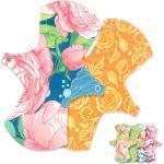 Anavy - DAY (Midi Tag Stoffbinden) - Baumwolle (24x7cm) - 2 Stück & Beutel - Sweet Flowers