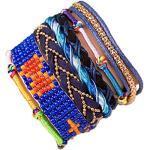 ANDANTE Hippie Fashion Armband BERMUDA im Ethno-Design One Size mit Edelstahl Magnetverschluss (Modell 4020) - Kollektion 2019 - SALE
