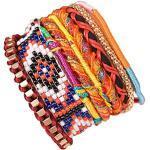 ANDANTE Hippie Fashion Armband Cancun im Ethno-Design One Size mit Edelstahl Magnetverschluss (Modell 4013) - Kollektion 2019 - Sale
