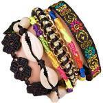 ANDANTE Hippie Fashion Armband Seychelles im Ethno-Design One Size mit Edelstahl Magnetverschluss (Modell 4022) - Kollektion 2019 - Sale