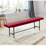 andas Sitzbank »Senta«, mit schönen, schwarzen Stahlbeinen und trendigem, weichen Velvet Bezug, auch als Bettbank geeignet, Garderobenbank, rot