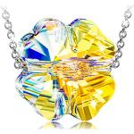 ANGEL NINA Halskette für Frauen Sterling Silber Halskette Kristall Halskette Personalisierte Halskette Kette Halskette Halskette Bester Freund Silber Halskette Geschenk für Mädchen