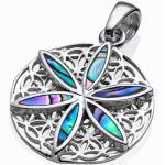 Anhänger Blume des Lebens Abalone 925 Silber
