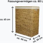 animal-design Nischenwäschekorb in versch. Größen aus Wasserhyazinthe Größe 3