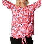 Aniston by BAUR Blusentop »Aniston CASUAL Schlupfbluse geblümte Damen Hemd-Bluse mit Knoten Freizeit-Bluse Rosa«