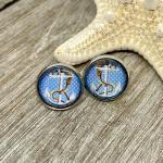 Anker Ohrringe Blau - Geschenkidee Frauen