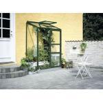 Anlehngewächshaus Halls Altan 2 Blankglas 3 mm 132x69 cm grün