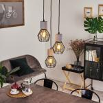 Annadale Hängeleuchte Schwarz, Grau, 3-flammig - Vintage - Innenbereich - versandfertig innerhalb von 2-4 Werktagen
