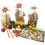 Annastore 30 x Gebäcktüten 5 x 6 cm Plätzchentüten Bodenbeutel Weihnachtsbeutel Kekstüten Gebäcktüten Gebäckbeutel Klarsichtbeutel