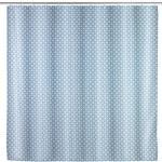 Anti-Schimmel Duschvorhang Cristal, Textil (Polyester), 180 x 200 cm, waschbar in Blau, Weiß