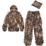AOOPOO Tarnanzug 3D Ghillie Suit Camouflage suit woodland (Jacke, Hose) Einheitsgröße
