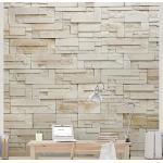 Apalis Stein Tapete, Vliestapete Provence Stones, Fototapete Quadrat   Vlies Tapete Wandtapete Wandbild Foto 3D Fototapete für Schlafzimmer Wohnzimmer Küche   192x192 cm, beige, 98455