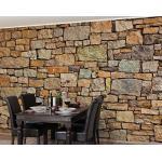 Apalis Stein-/Vliestapete Croatia Stonewall, Fototapete Breit   Vlies Tapete Wandtapete Wandbild Foto 3D Fototapete für Schlafzimmer Wohnzimmer Küche   225x336 cm, braun, 98573