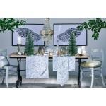 APELT Tischband »3625 Christmas Elegance, Jacquardgewebe« (1-tlg), mit glänzenden Fäden, weiß, weiß-silberfarben